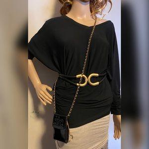 Chanel cc logo patent leather crossbody